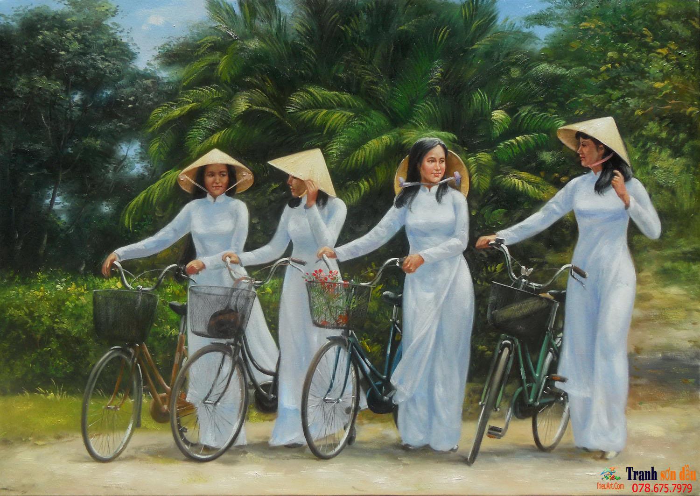 Tranh sơn dầu phong cảnh quê hương Việt Nam QHVN – P1