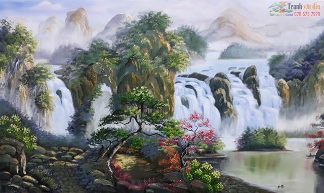 Vẽ tranh phong cảnh núi non, sông nước, làng quê